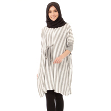 Mybamus Thin Shape Tunic Gray White M14278 R70S3