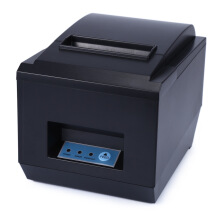 AOSEN ZJ - 8250 POS Receipt Thermal Printer with 80mm Paper Rolls High-speed Printing Black EU Plug