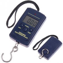 Jantens Black LCD Mini Electronic Scale Digital Scales 0.01kg - 40kg Hanging Scale Blue 10g-40kg