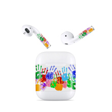 Blitzwolf LEORY Customized Protective Earphone Stickers for Airpods Bluetooth Earphones Removable Adhesive Decal Film Stickers Orange