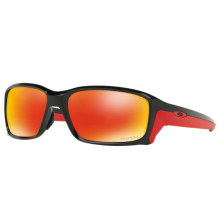 Oakley Sunglass STRAIGHTLINK - OO9336-06 - Polished Black Ruby Iridium Prizm Size 58