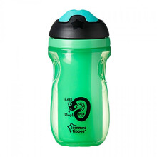 [free ongkir]Tommee Tippee Insulated Active Spout Cup 12m+ - Green Snake