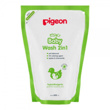 [free ongkir]Pigeon Baby Wash 2 in 1 Hair and Body Refill 600 ml