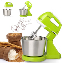 JDwonderfulhouse 7 Speed Electric Egg Beater Dough Cakes Bread Egg Stand Mixer + Hand Blender + Bowl Food Mixer Creme