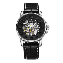 COZIME OCHSTIN 62004A Men Watch Automatic Mechanical Wrist Genuine Leather Black