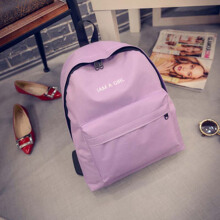 Keness New Korean version of the tide girl letter backpack canvas backpack student bag