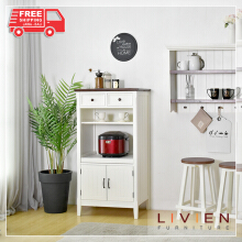 Lemari Dapur Cabinet Sliding French Country - LIVIEN FURNITURE