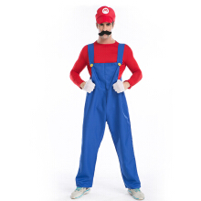 Anamode Funny Cosplay Costume Super Mario Luigi Brothers Plumber Fancy Pants -