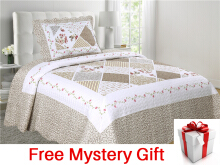 VINTAGE STORY Shabby Bed Cover Set Korea Size Single 150x200 cm/P1E