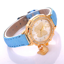 Fashionmall Leather Band hiasan Student Wristwatch 8COLOR