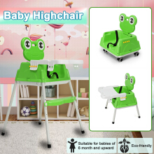 JDWonderfulhouse JDWonderfulHouse Multi-Function Adjustable Hightchair Baby Child Seating Feeding Chair Foldable Green