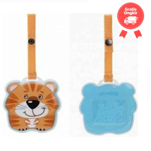 Okiedog Wildpack Luggage Tag Tiger Color Orange