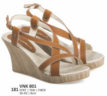 HEELS / WEDGES KASUAL WANITA - VNK 801