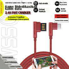 GOLF SPACE T Bone Kabel Data Type C Fast Charging 2.4 A GC48T