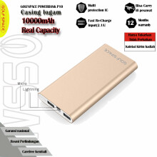GOLFSPACE Powerbank  P10000mAh Polymer Battery Dual Port Real Capacity Original