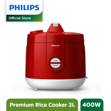 PHILIPS Rice Cooker 2 L HD3129/32 Premium - Red
