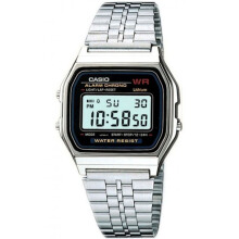 Casio A159WA-N1DF D30H293SLHTMR Digital Jam Tangan Unisex Silver List Red