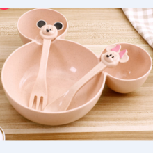 Children Kids Cute Cartoon Mouse Bowl Dishes Baby Feeding Bowl Dinner Lunch Food Container Lunch Box	Camping