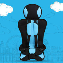 [OUTAD] Car Safety Seat Baby Car Boost Seat Safety Chair Universal Sit for Kids Safety Blue