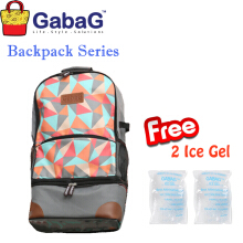GabaG Cooler Bag Backpack Series Radja Bima (Free 2 Ice Gel)