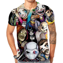 SESIBI M~3XL 3D Fashion Shirts Women Men Cool Short Sleeve Tees Lovers Tops Printing Blouse -Hip Hop Cartoon -