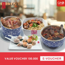 369 Shanghai Dumpling & Noodle Voucher Value Rp.100.000,-