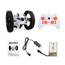 [kingstore] Mini Drone Jumping RC Car Bounce Car Robot Toy With Remote Control White