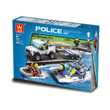 Wange Bricks 52012 Police White Blue