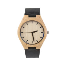 COZIME Vintage watches Maple dial watch Black Band Men Women Couple Watch Black