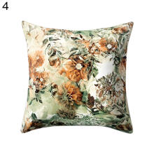 Farfi Flower Floral Print Pillow Case Bed Waist Cushion Cover Cafe Home Decor