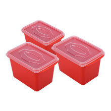 VICTORYHOME Food Box 1000ml Set of 3 - Red