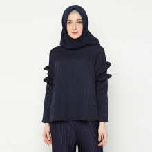 NAFEESA Tunik Jamila Navy Allsize Navy Blue All Size