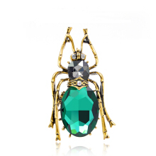Jantens 2 Colors Choose Glass Big Bugs Brooches for Women Vintage Fashion Jewelry New Arrival 2018 Green