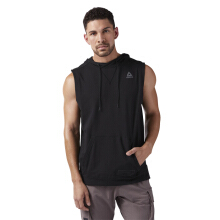 Reebok Combat Sleeveless Mens Hoodie - Black CE2540