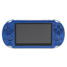 COZIME 4.3 Inch Handheld Game Console Player Built-in 300 Games for Kids Adults Blue