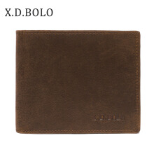 XDBOLO Cross-border hot retro leather wallet crazy horse leather men's short leather wallet