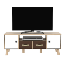 Metropolis Kabinet TV SONOMA OAK - WHITE ARNOR TV120