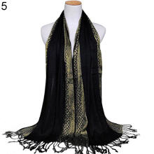 Farfi Women Muslim Long Soft Cotton Shawl Luxury Scarf Tassel Stole Wrap