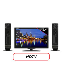 POLYTRON LED TV 32 Inch HD - PLD32T710 [Speaker Tower]