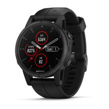 GARMIN FENIX 5S PLUS BLACK/BLACK SILICON BANDS