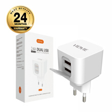VIDVIE 2 USB Port Micro Charger PLE207 (USB Cable Included-Micro) - White