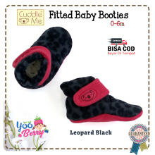 Cuddle Me Sepatu Prewalker Bayi Fitted Booties Leopard Black CME007AF