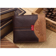 Zanzea 0051Fashion Men Leather Bifold Money Card Holder Wallet Coin Bag Purse Clutch Pocket Carriage