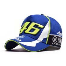 [kingstore]Fashion Unisex Moto Racing Cap Adjustable Sports Cap Letter Embroidery Cap Blue Blue