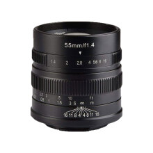 7ARTISANS 55mm f1.4 for Fuji FX Black