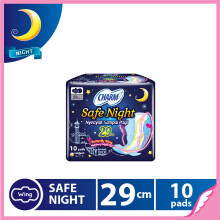 CHARM Pembalut Safe Night 29cm Wing 10 pads