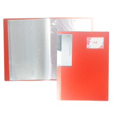 INTER X FOLDER CLEAR HOLDER CHX 140F F4 40 POCKETS RED 1 PC Red