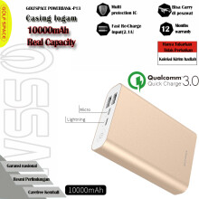 GOLFSPACE Powerbank  10000mAh Qualcomm Quick Charge 3.0 Quick  P13 Emas