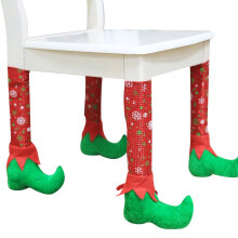 [COZIME] Christmas Table Chair Leg Covers Party Xmas Dinner Table Chair Decorations Red