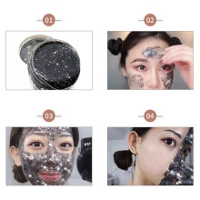 TOWER PRO Glitter Peel Off Face Mask Facial Care Tightening Masks Skin Black